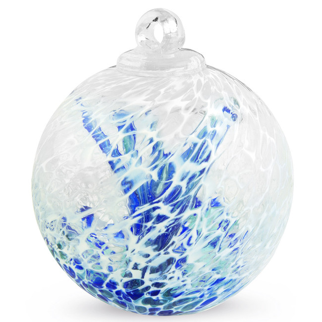 "Veiled Witch Ball ""Emerald Blue"""