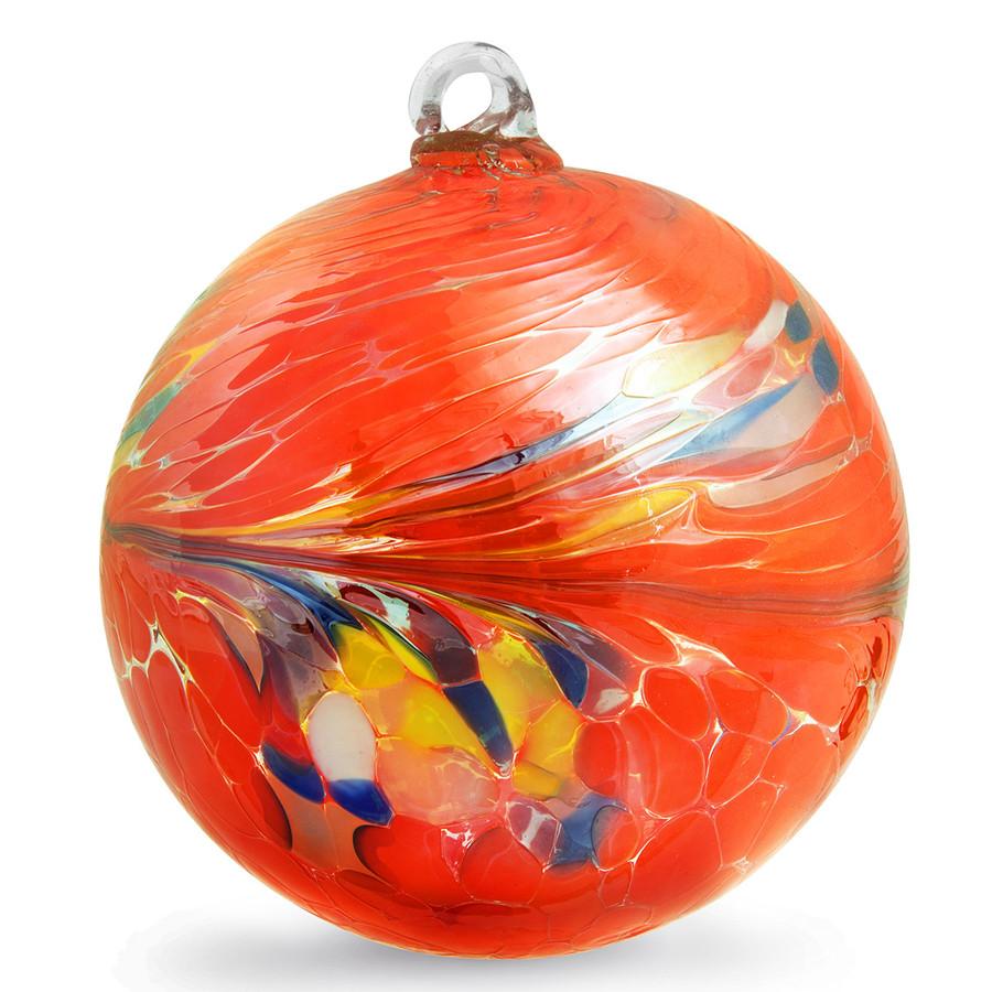 Orange Circus Kugel (5 Inch)