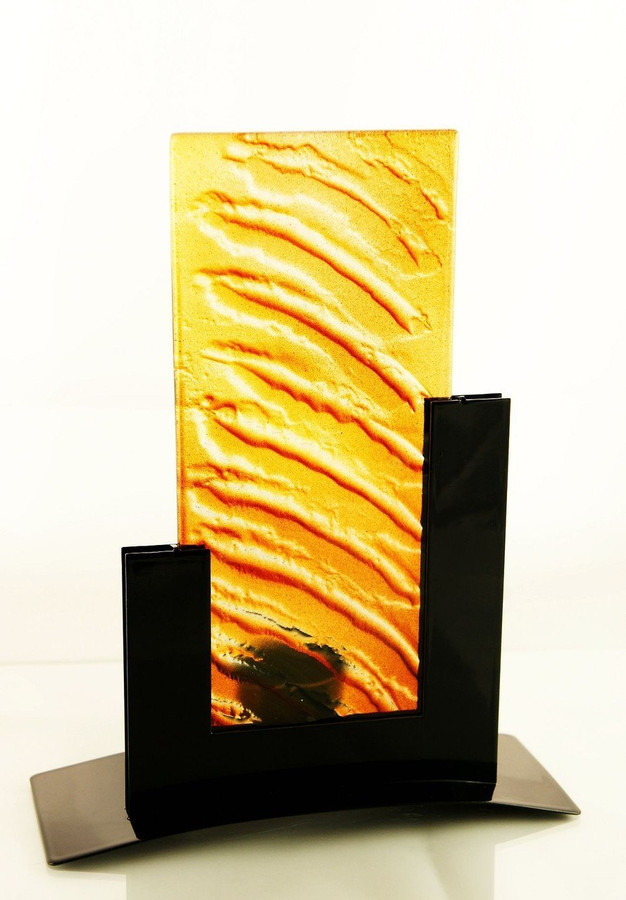Metro Tealight Candle Holder (Amber)