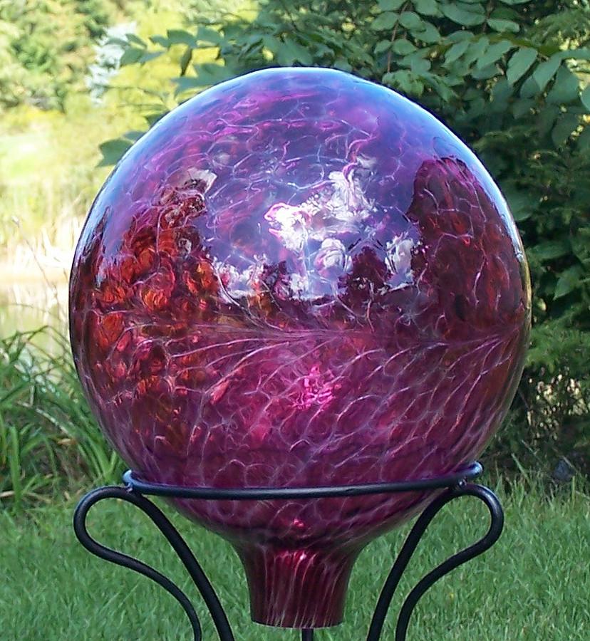 Gazing Ball 12 Inch Red