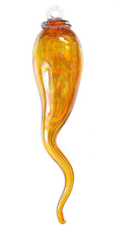 """Italian Horn  """"Cornicello"""" Gold Topaz"""