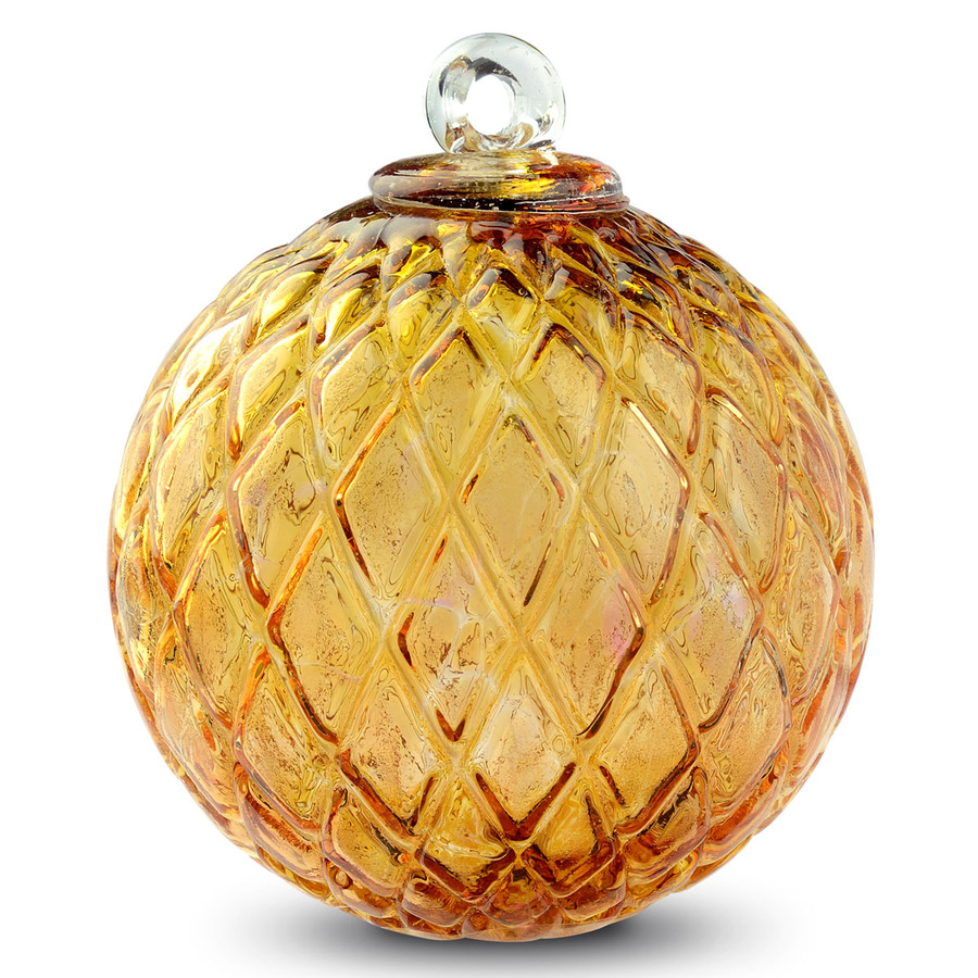 Diamond Optic Friendship Ball, Gold Topaz (4 inch)