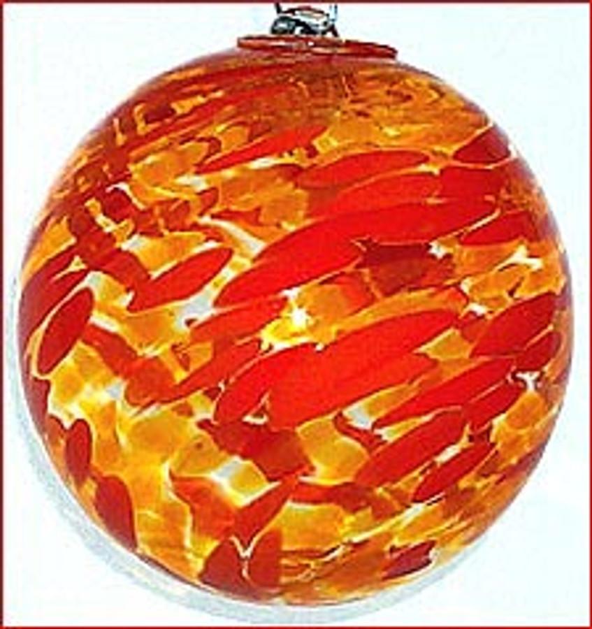 Orange & Yellow 5 Inch Kugel (Sun)