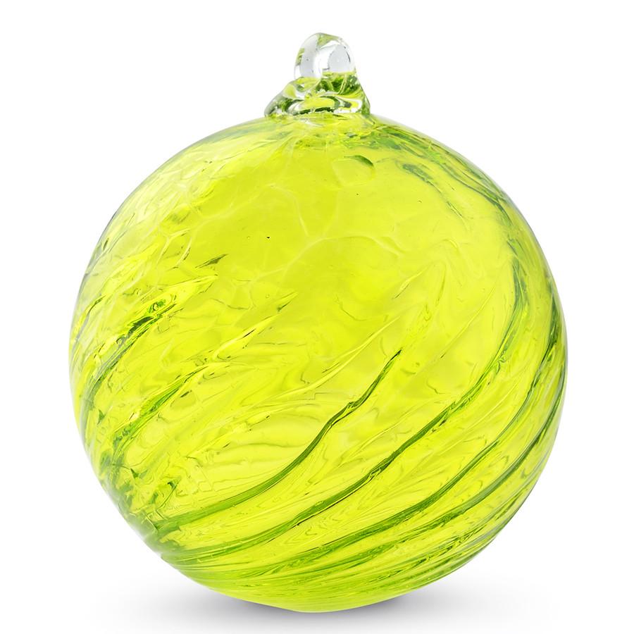 Lemon Yellow Optic 3 Inch Kugel