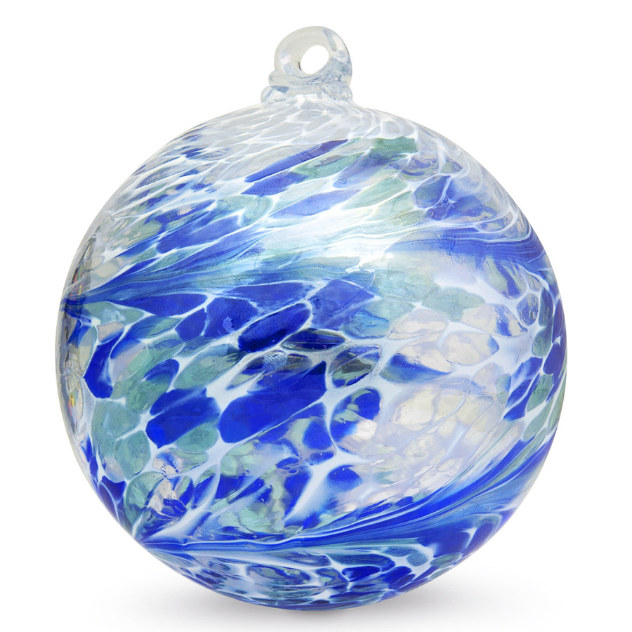 "Friendship Ball ""Free Ocean"" 4 Inch Kugel Iridized"