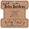Black & White Tie Dye Half Boho Bandeau