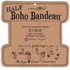 Solid Black Half Boho Bandeau