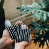 Black Stripe hand warmer set - unscented