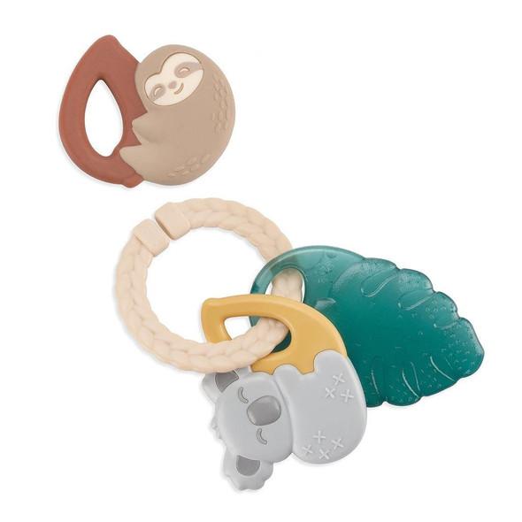 Itzy Keys Teething Ring - Tropical