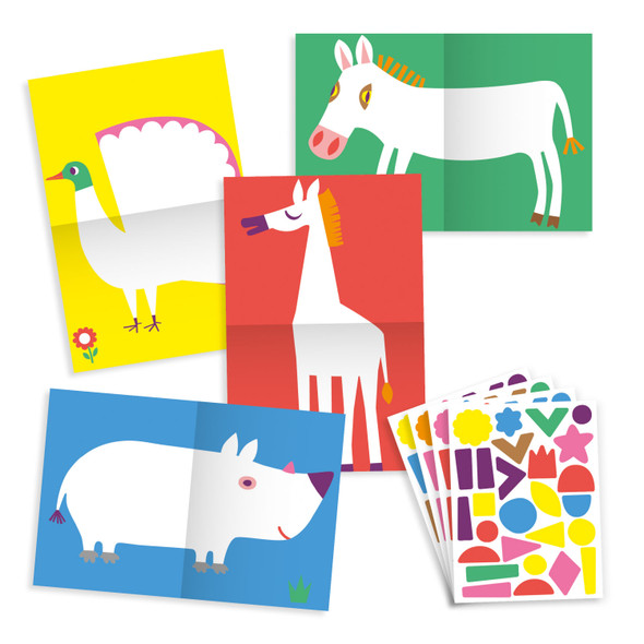 Create with Stickers - Large Animals