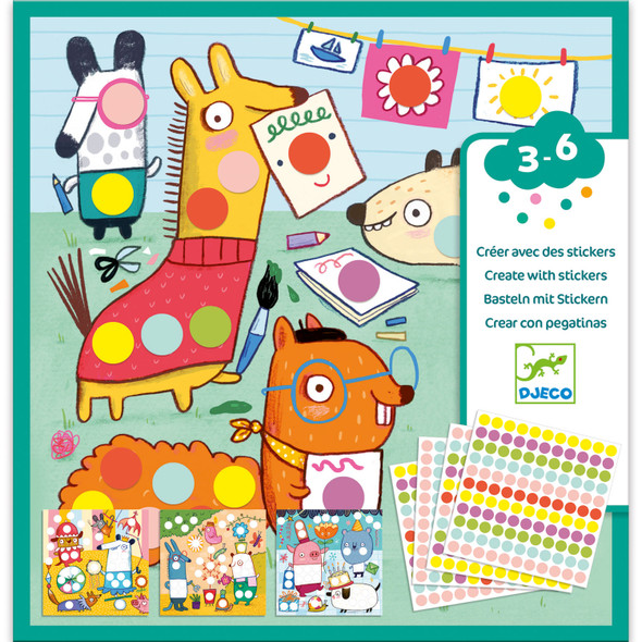 Create with Stickers - Colored Dots