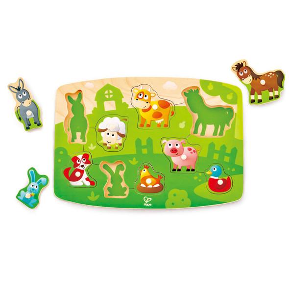 Farmyard Wooden Peg Puzzle
