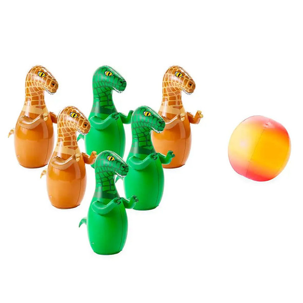 Giant Inflatable Bowling Set - Dinosaur