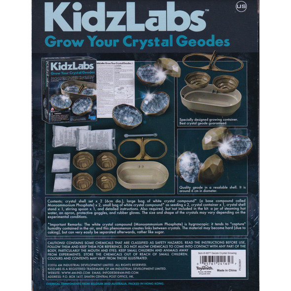 KidzLabs Grow Your Own Crystal Geodes