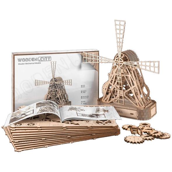 Wooden City Windmill Model