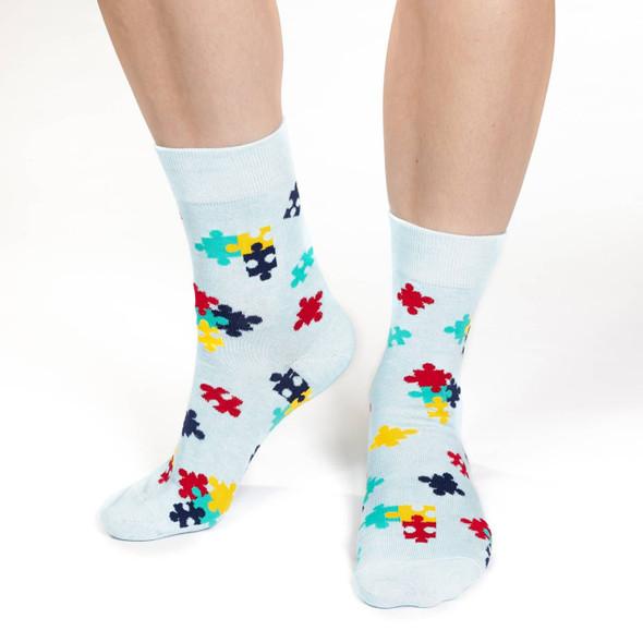 Puzzle Pieces Socks Size 5-9