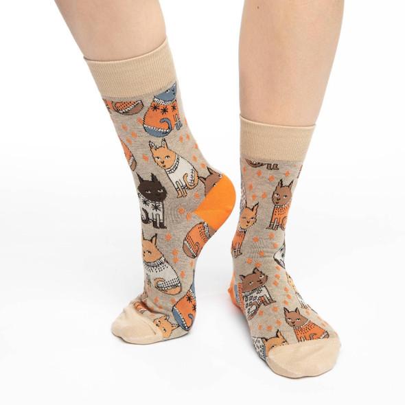 Sweater Cats Socks Size 5-9