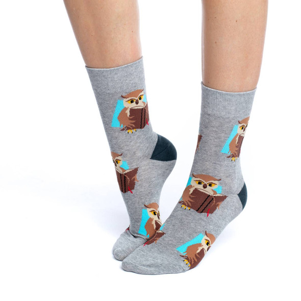 Book Owl Socks