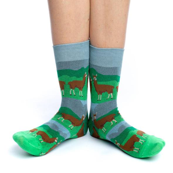 Prairie Llama Socks