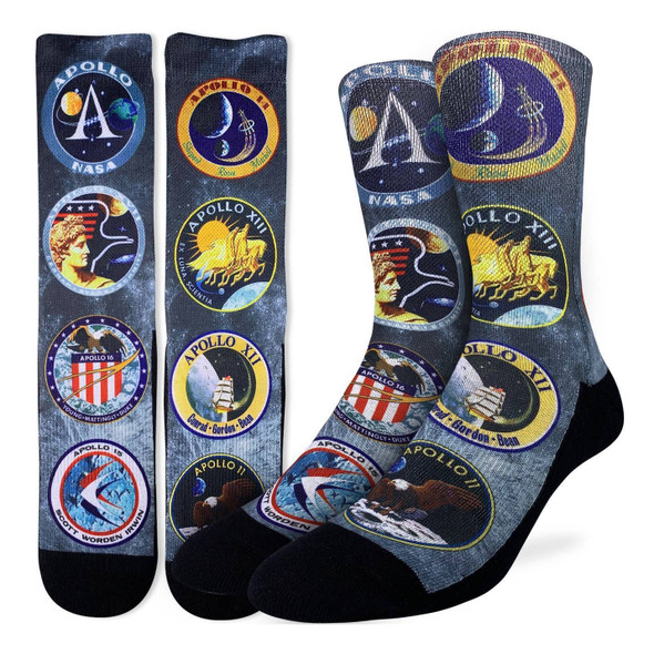 Apollo Mission Patches Active Fit Socks