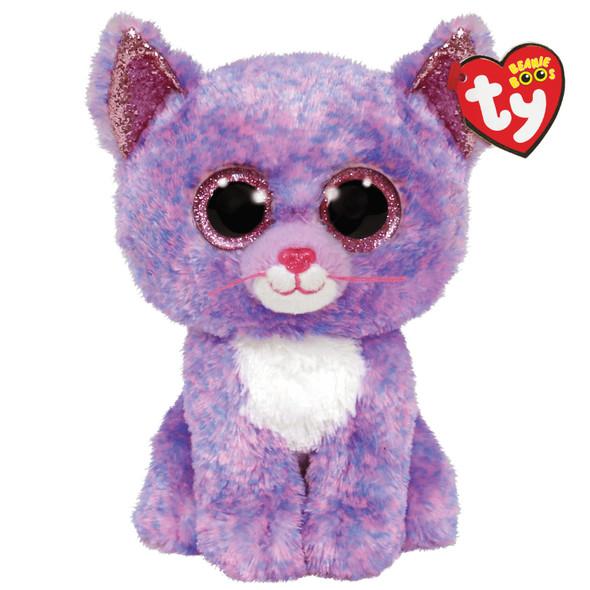 Cassidy Lavender Cat Beanie Boos Plush