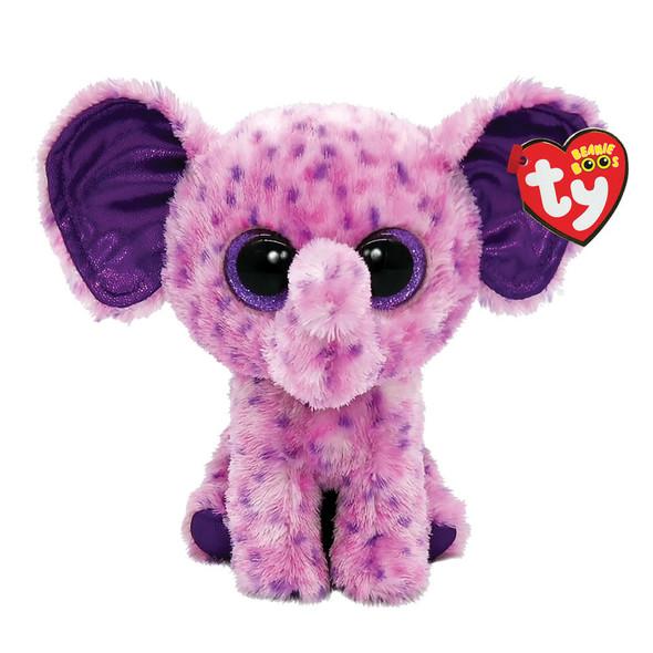 Eva Pink Elephant Beanie Boos Plush