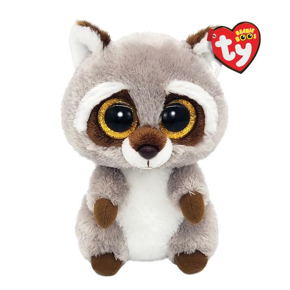 Oakie Brown Raccoon Beanie Boos Plush