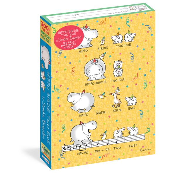 Hippo Birdie Two Ewe 300-Piece Birthday Puzzle