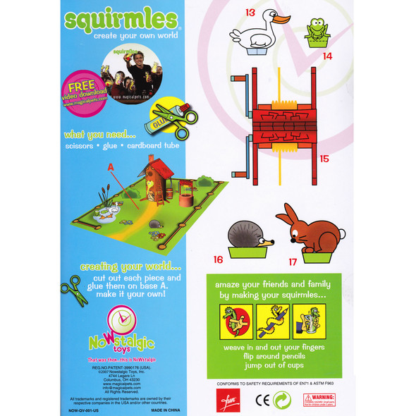 Squirmles 4-pack with World