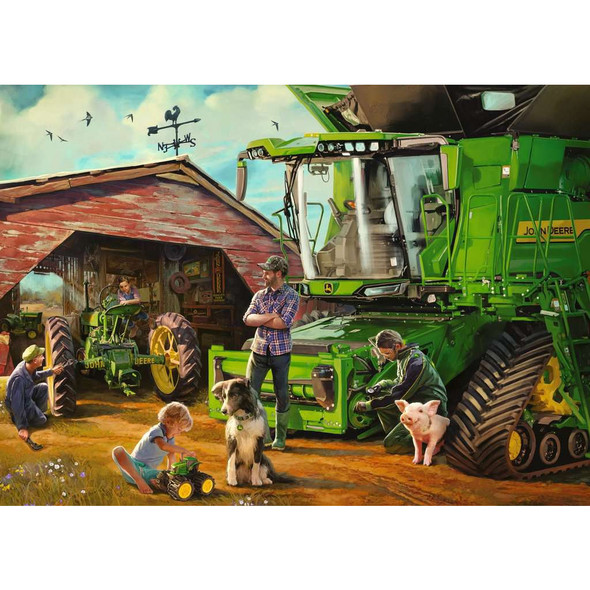 John Deere Then and Now 1000pc Puzzle