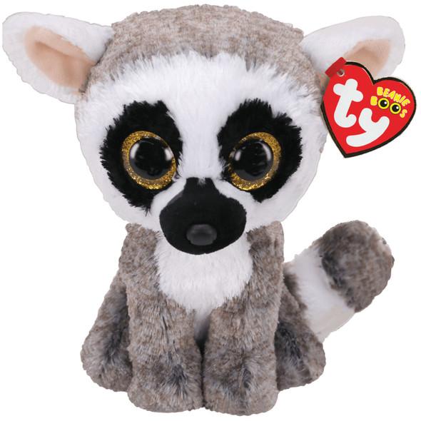 Linus Grey And White Lemur Beanie Boos Plush