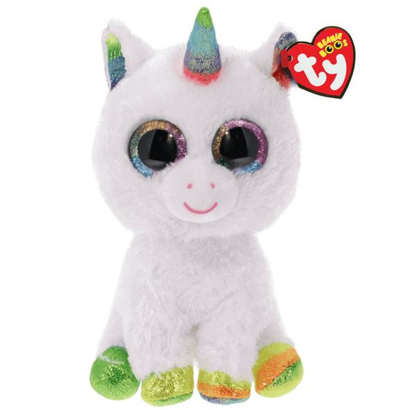 Pixy White Unicorn Beanie Boos Plush - Small
