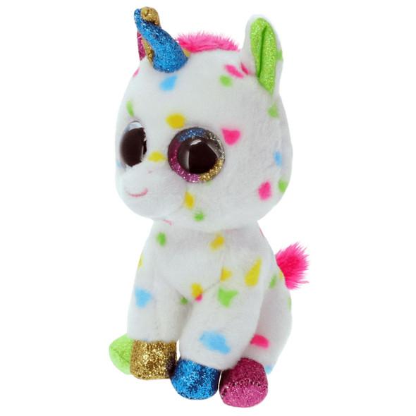 Harmonie Multicolor Unicorn Beanie Boos Plush - Small