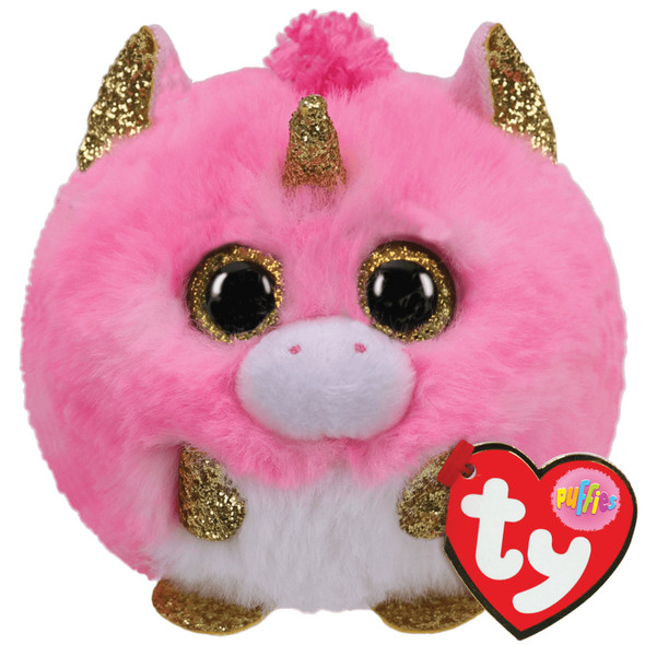 Fantasia Pink Unicorn Ty Puffies Plush