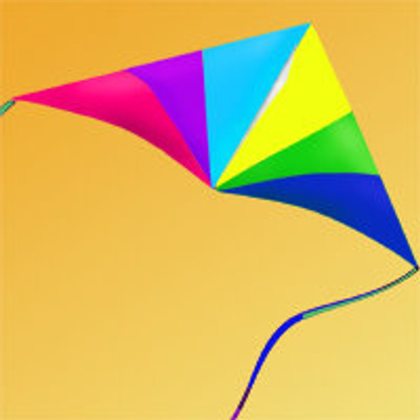 7 foot Hi Sky Delta Kite with 50lb Line - Springtime