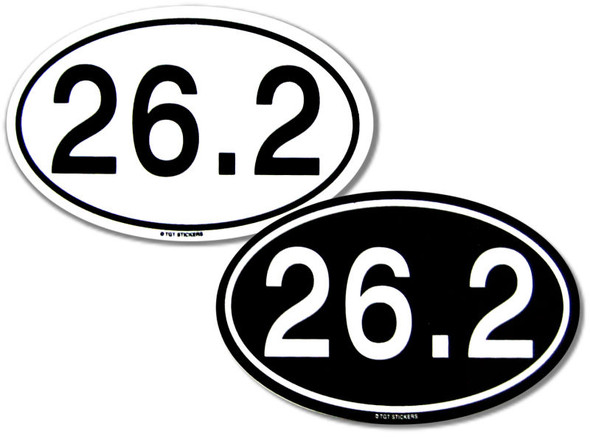 26.2 Marathon Stickers