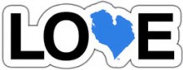 "Love Michigan 2"" Sticker - Blue"