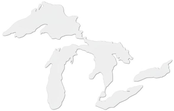 Mini Great Lakes Proud Sticker - White
