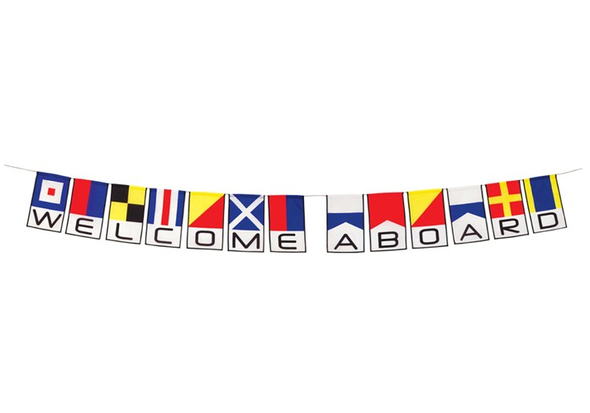 Welcome Aboard String Flag