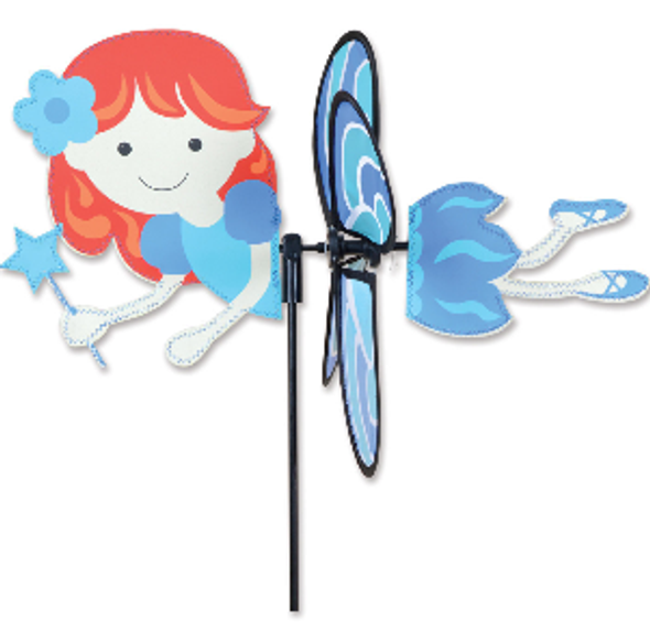 "Blue Fairy 15"" Garden Spinner"