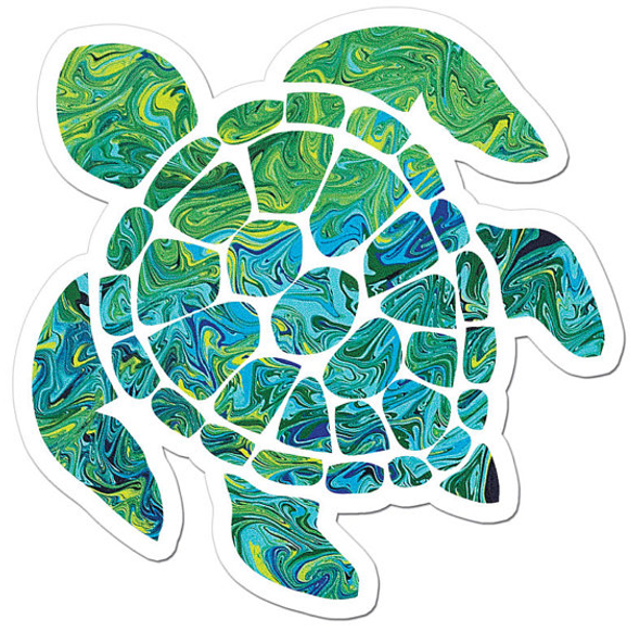 The Sea Turtle Art Sticker