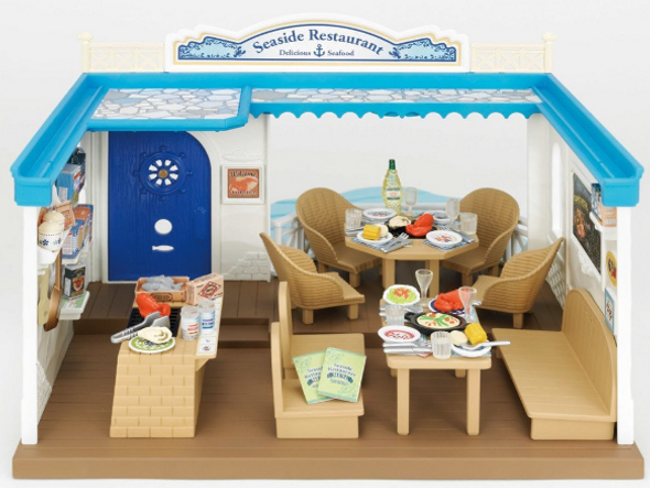 Calico Critters Seaside Restaurant - Play Scene