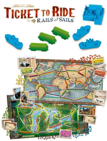 Ticket to Ride: Rails & Sails - Double-Sided Game Board