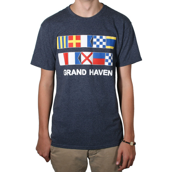 Grand Haven Nautical Flag tee