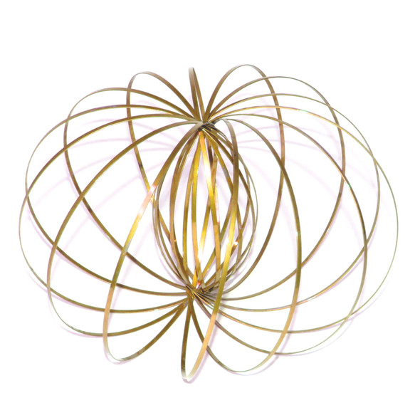 Gold Kinetic Flow Ring