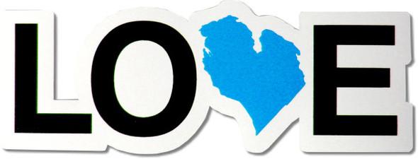Love Michigan Magnet - blue