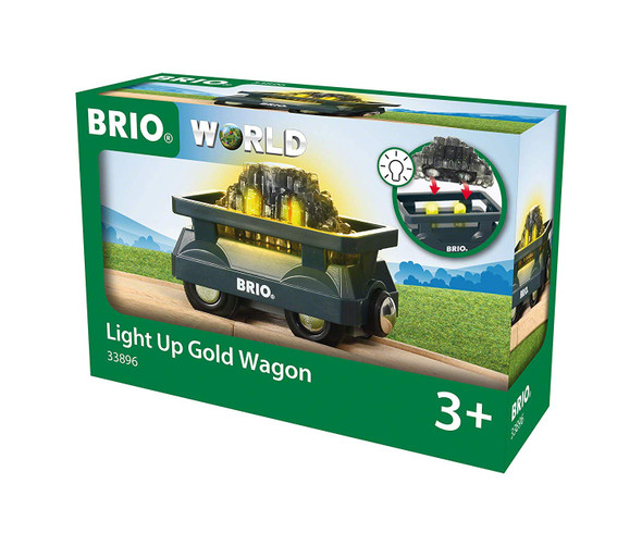 Light Up Gold Wagon train by Brio