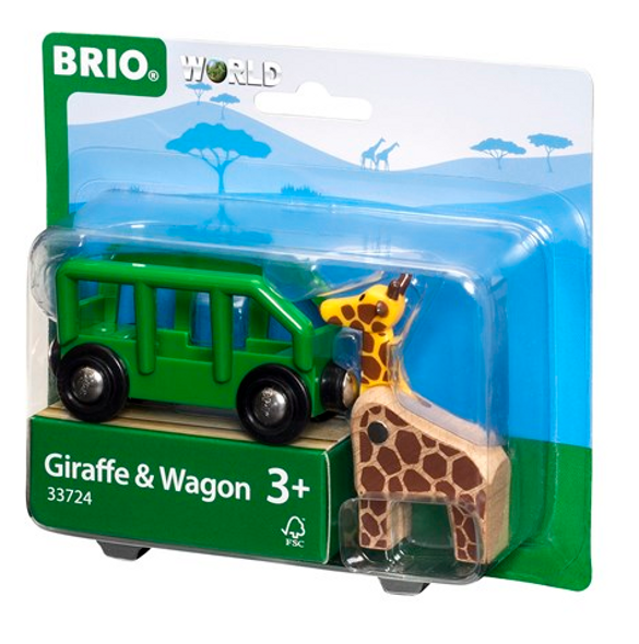 Brio Giraffe and Train Wagon
