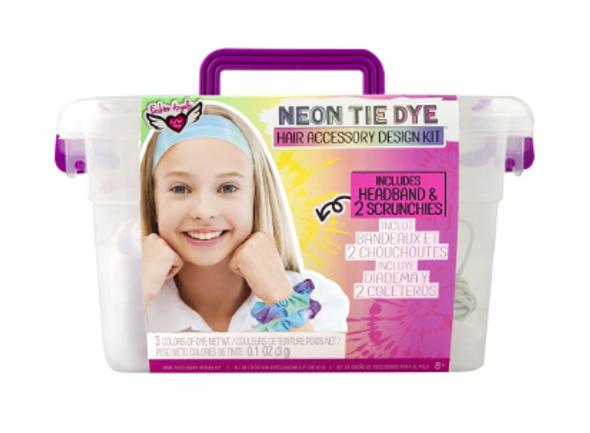 Neon Tie Dye Hair Accessory Kit