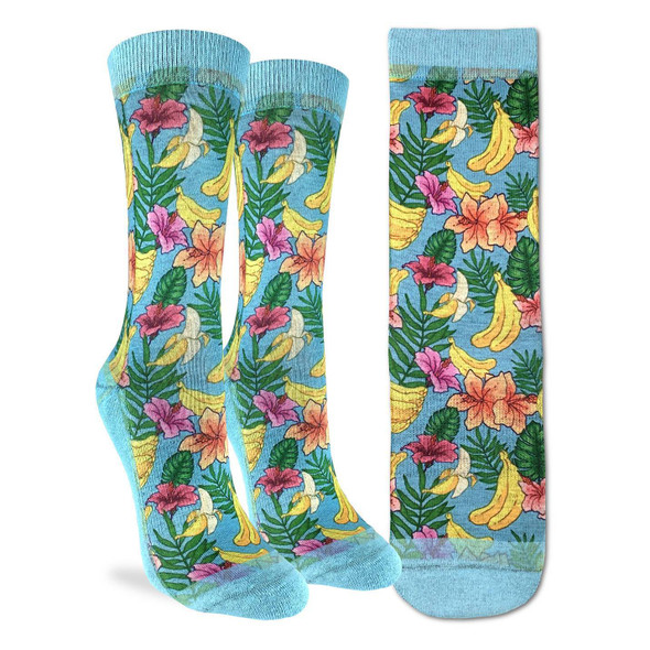 Floral Banana Socks by Good Luck Socks